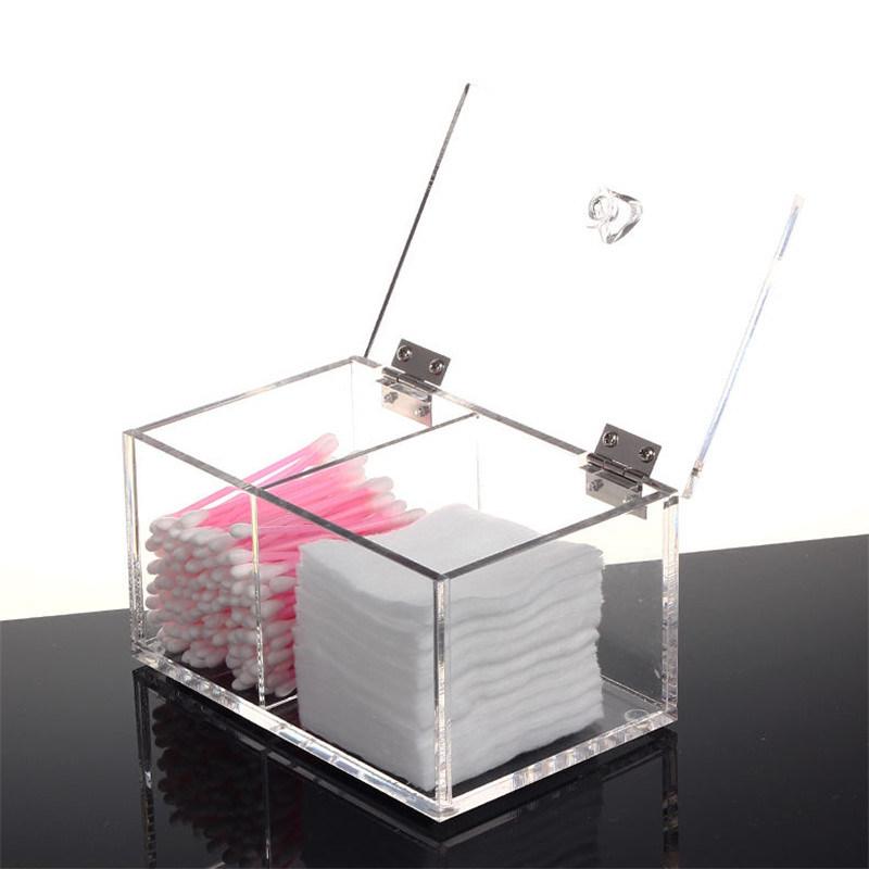 Cosmetic Organizer Acrylic Makeup Case Cotton Box Lipstick Holder