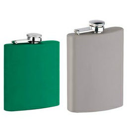Stainless Steel Hip Flask with Rubbing Coating Outside (R-HF057)