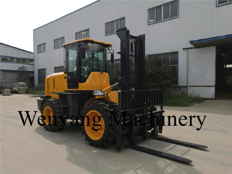 China New 5ton Good Offroad Rough Terrrain Forklift