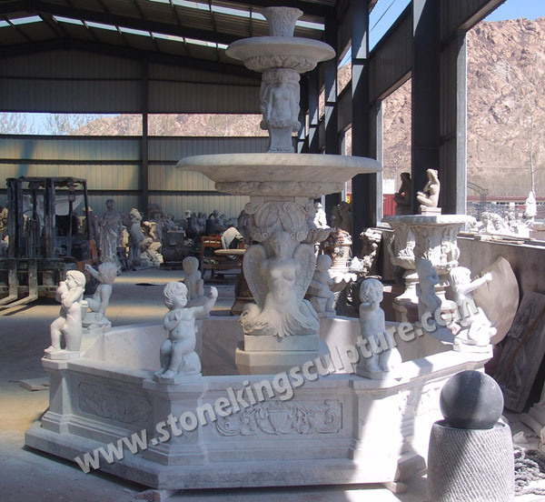 Marble Fountain, Carved Stone Fountain And Outdoor Garden Fountain (SK-2423)