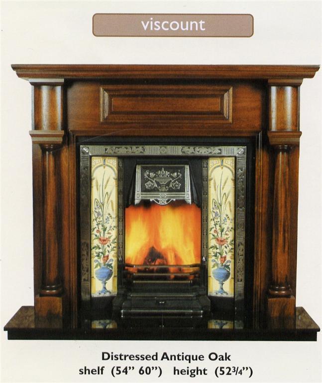 Solid Oak Fireplace Mantel ST 11 China Fireplace