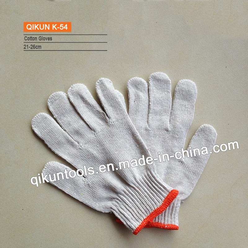 K-61 One/Two Sides Knitted Dotted Working Cotton Gloves