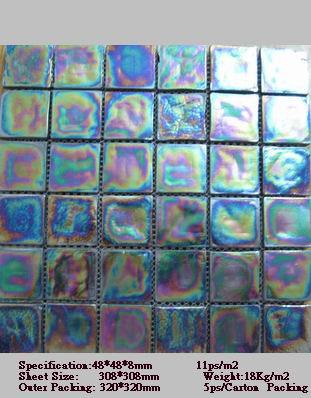 handmade tumbled glass tile sgd4007 china glass mosaic glass tile
