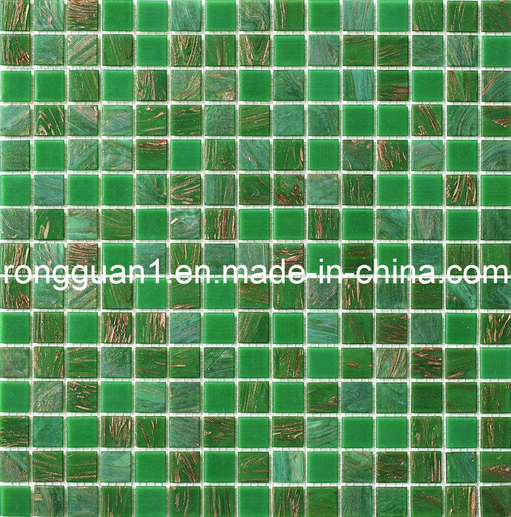 Mattonelle di mosaico di vetro per materiale da for Materiale per mattonelle