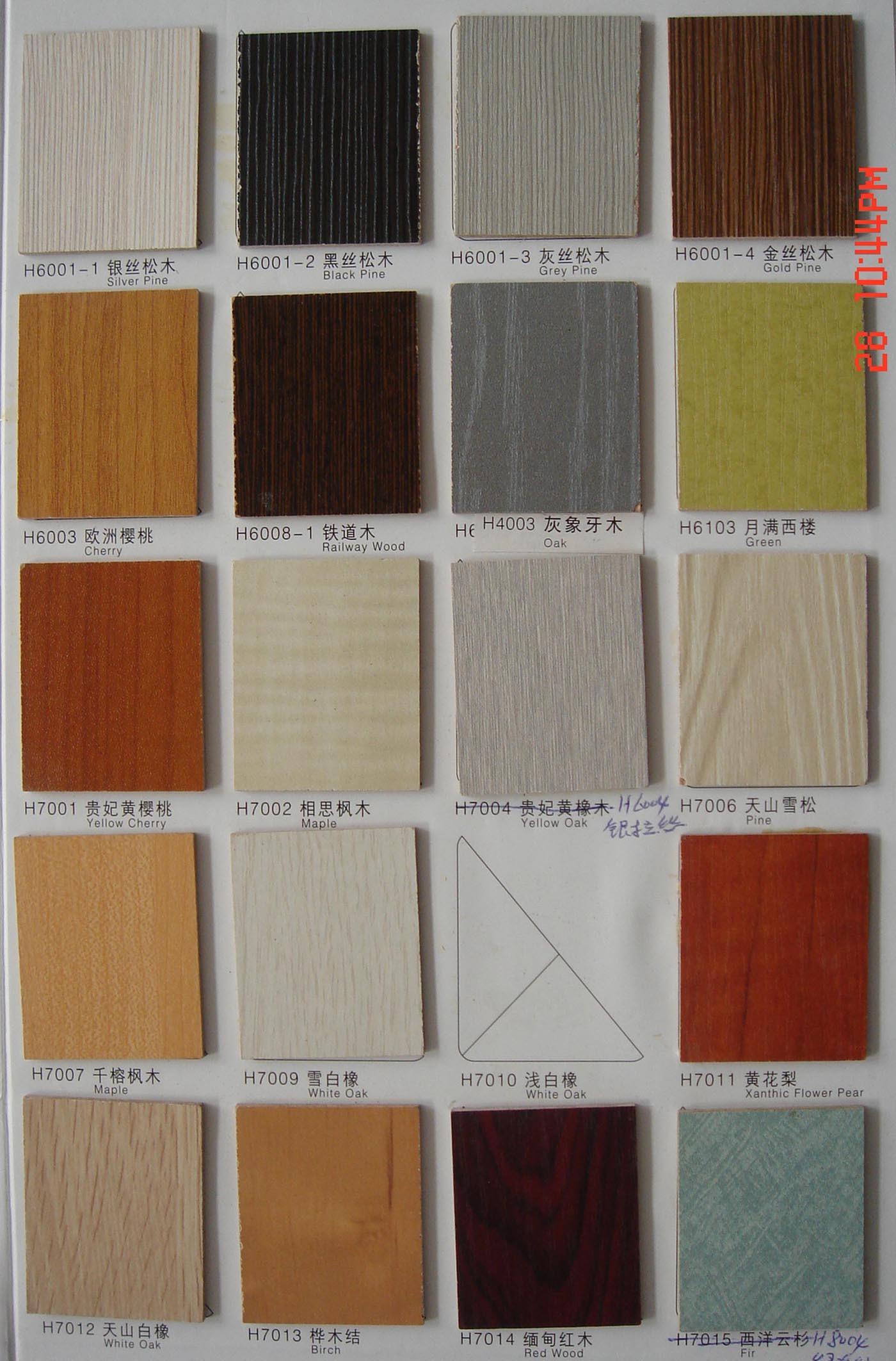China melamine mdf color book4 china melamine mdf mdf for Mdf colors