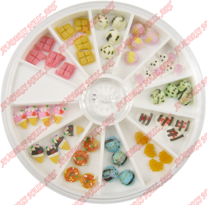 china 3d fimo desserts professional nail art accessories. Black Bedroom Furniture Sets. Home Design Ideas