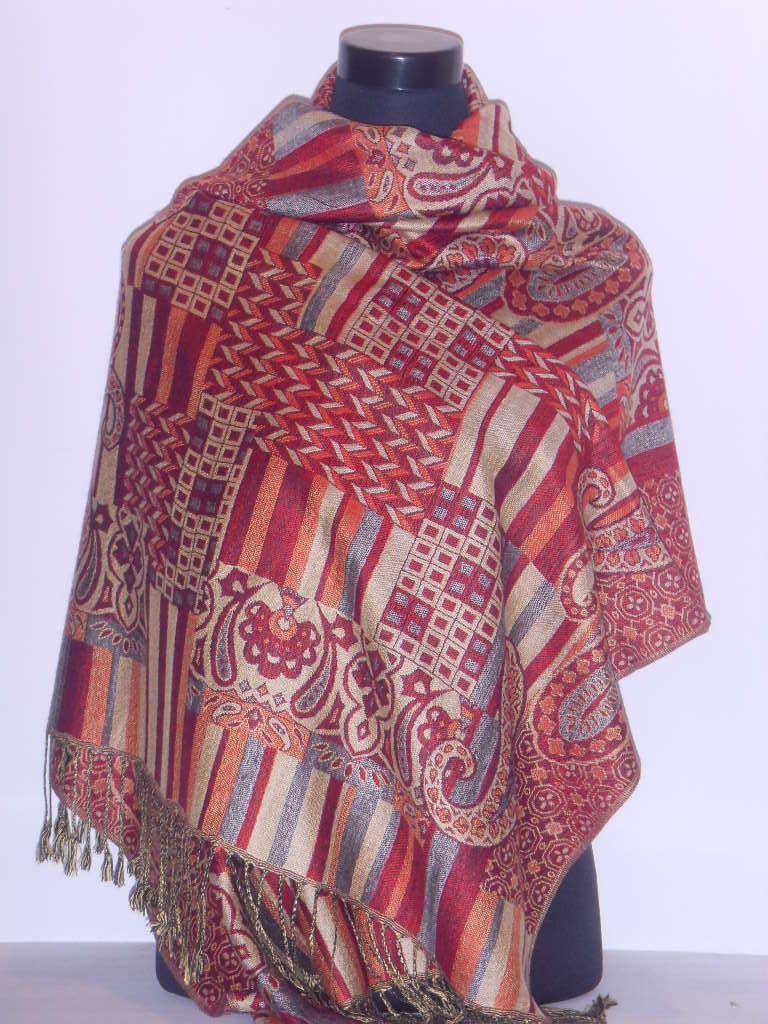China Pashmina Scarf (A41) - China jacquard scarf, viscose scarf