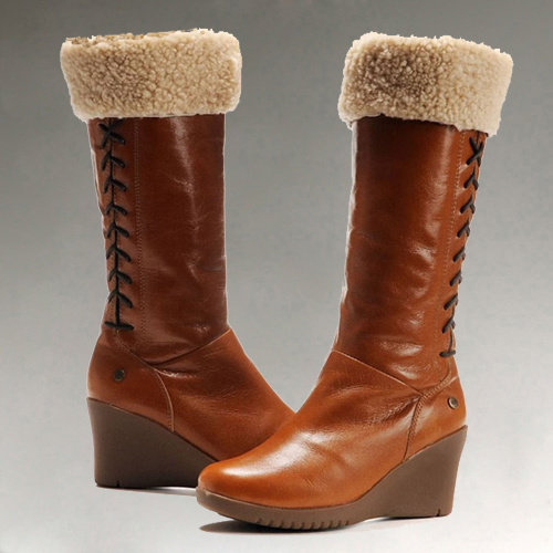 Ladies Leather Snow Boots | Santa Barbara Institute for ...