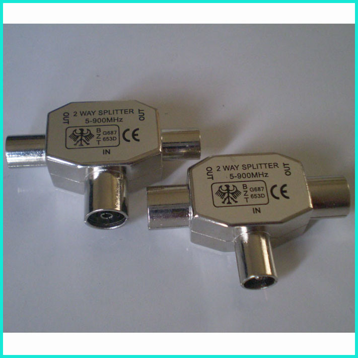 TV Splitter/Dish Splitter (1M-2F)