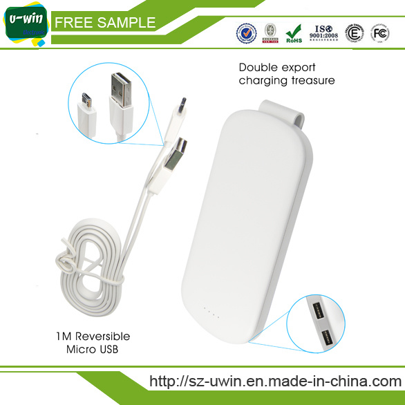 Metal Hook Function 5000mAh/4000mAh/10000mAh Rechareable Emergency Power Bank