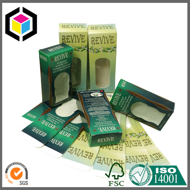 Clear Plastic Window Cardboard Paper Packaging Box for Cosmetic