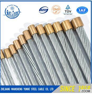 7/2.25mm Galvanized Steel Wire Core Hot DIP Zinc Coating Strand Steel Cable