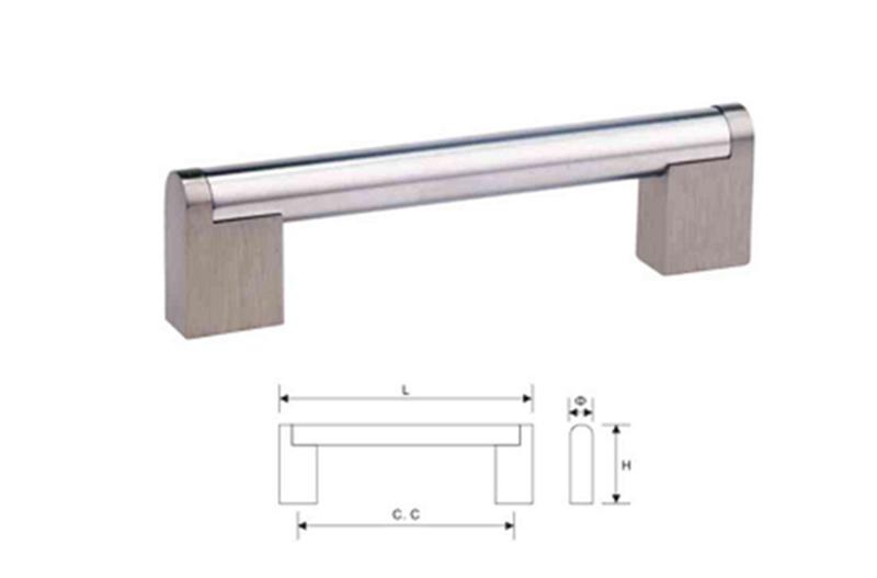 Stainless Steel Furniture Cabinet Hardware Door Pull Handle (T 010)