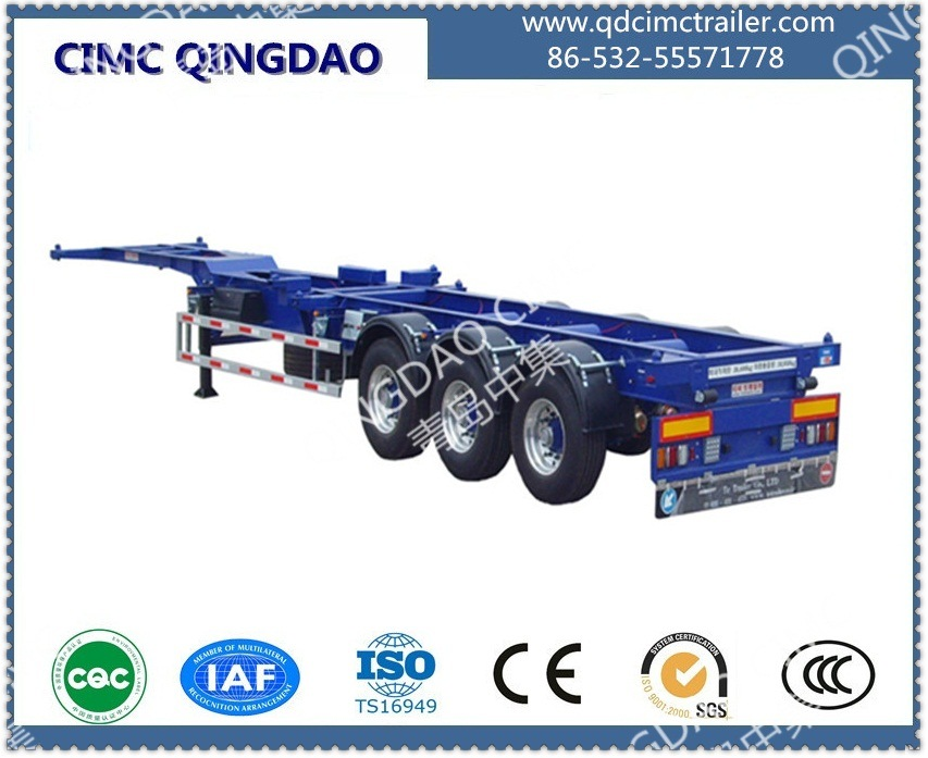 40FT Three Anxle Skeleton Chassis Semi Trailer