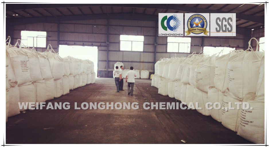 74%-77% Flakes Calcium Chloride / Calcium Chloride Pellets 77% / Snow-Melting Agent / Cement Additive