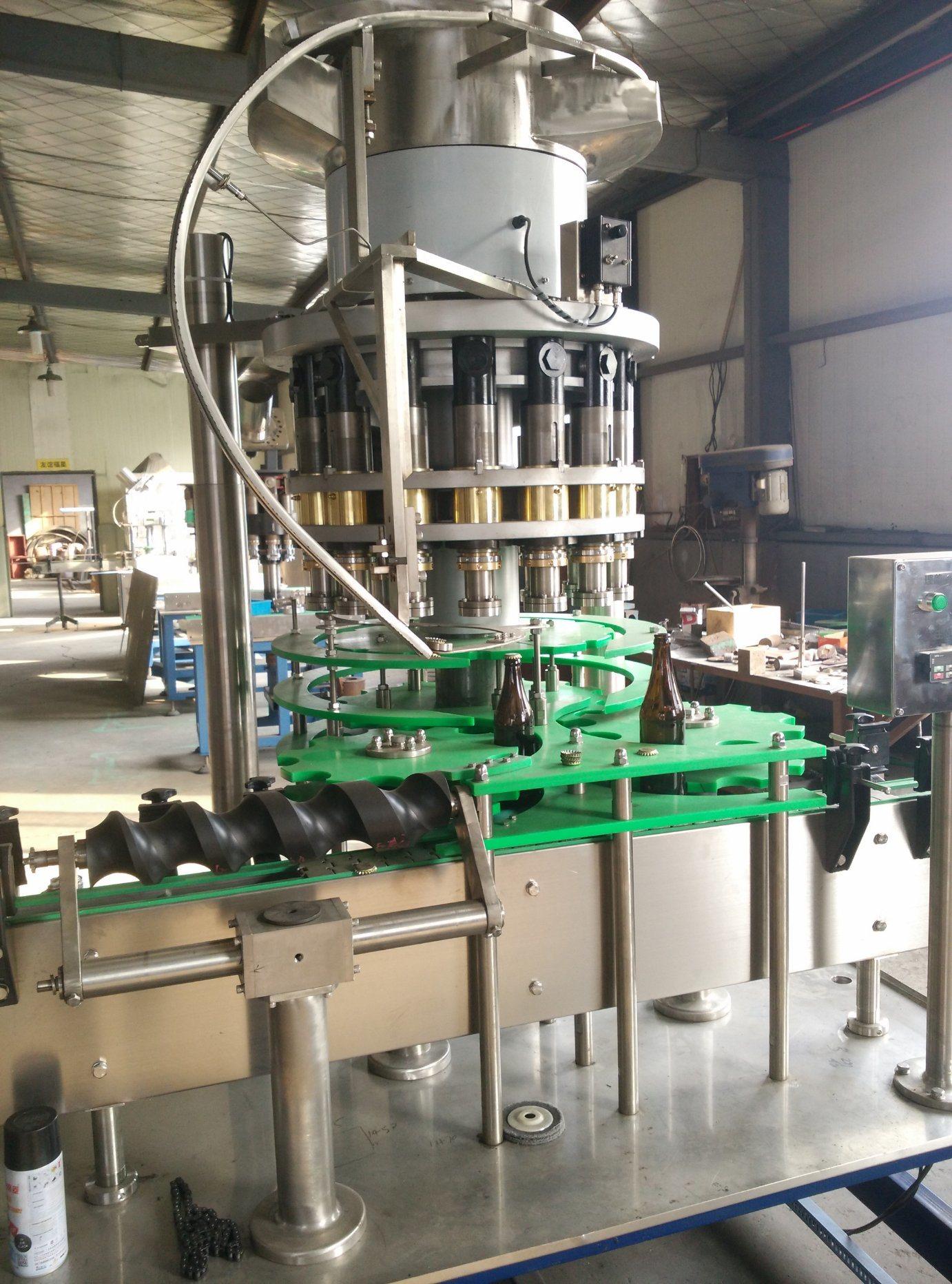 Glass Bottle Beer Crown Cap Sealing Machine (HXG-8)