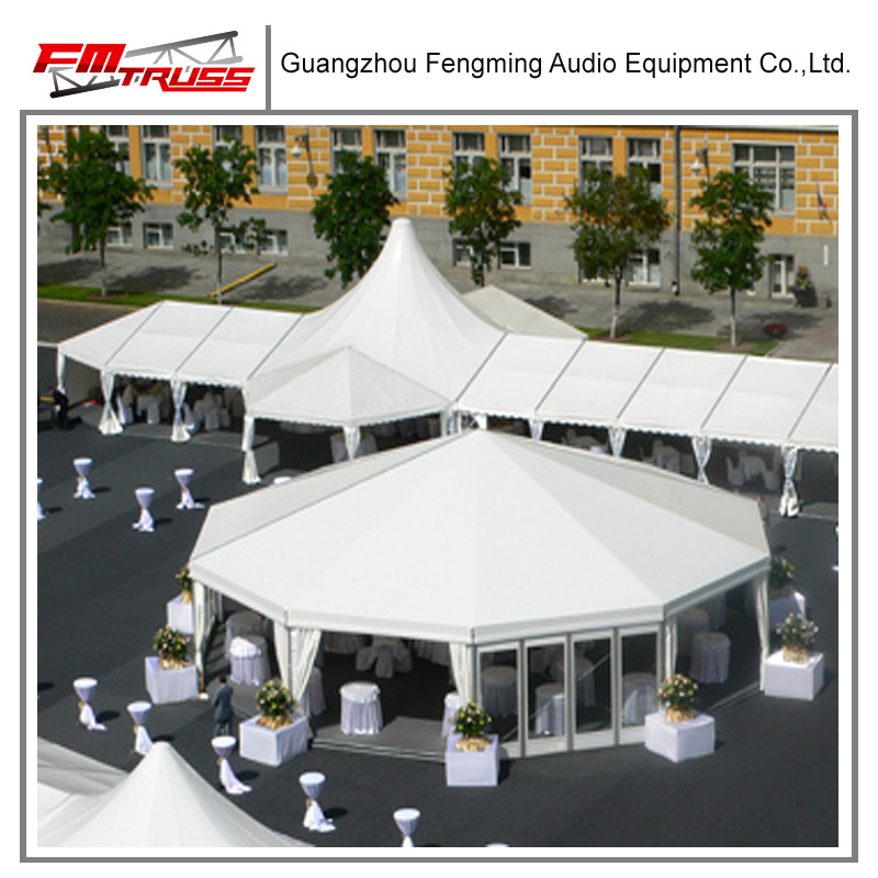 Outdoor PVC and Glass Wall Polygon Tent for Party, Wedding and Exhibition