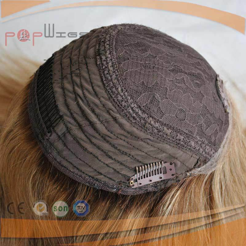 Long Blond Human Hair Monofilament Toupee