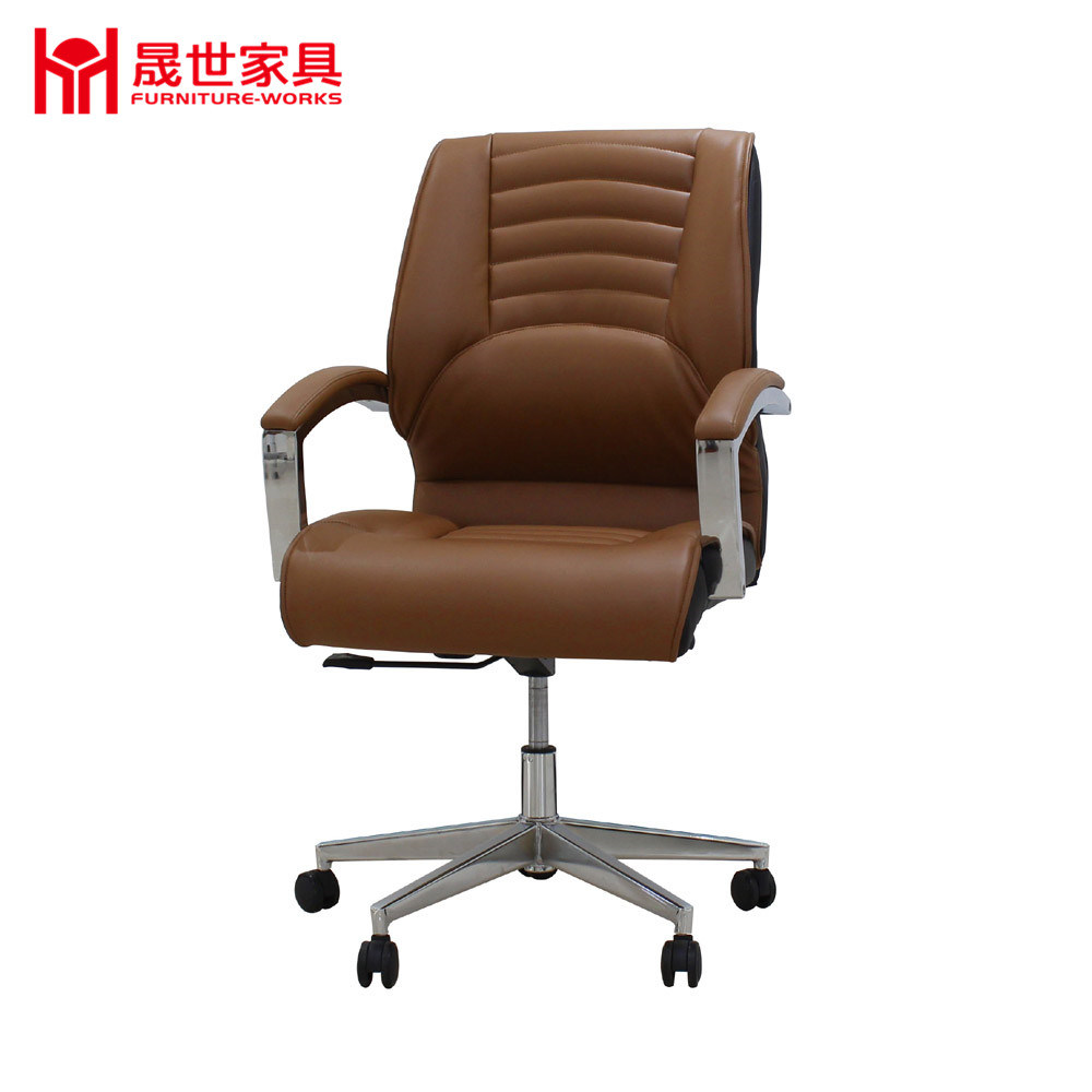 2017 New Design Guangdong Factory Luxury Swivel Leather Office Chair with Headrest.