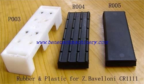 Stock Plastic/Rubber Pad for Z. Bavelloni Pr88, Cr1111, Bavelloni Spare Parts