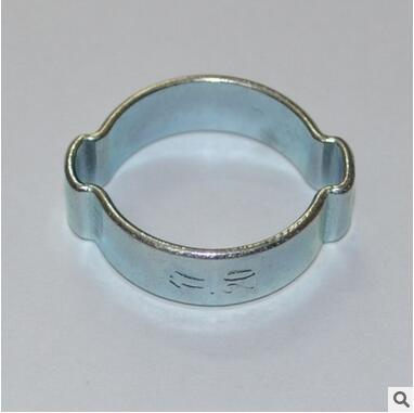 Zinc Plated Steel 2-Ear Clip Double Ear Hose Clamp