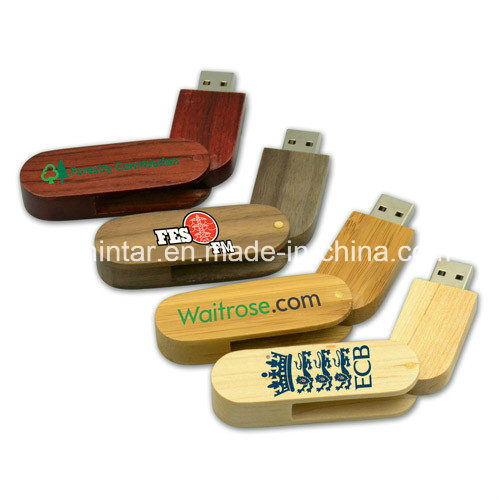 Wooden USB Stick Thumbdrive Flash Memory Swivel USB Flash Drive
