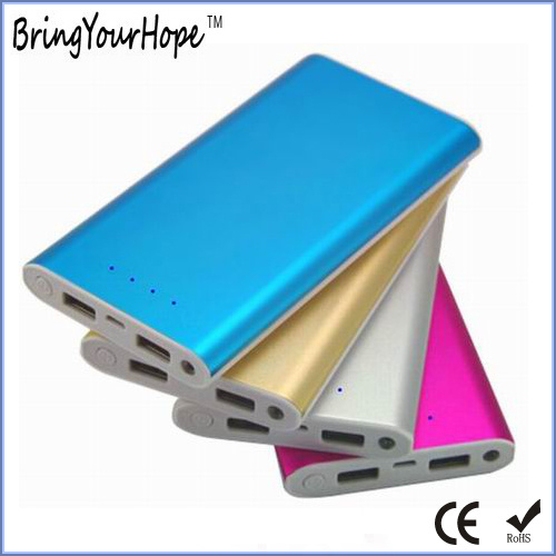 10000mAh Slim Metal Power Bank with 2 USB Output (XH-PB-241)
