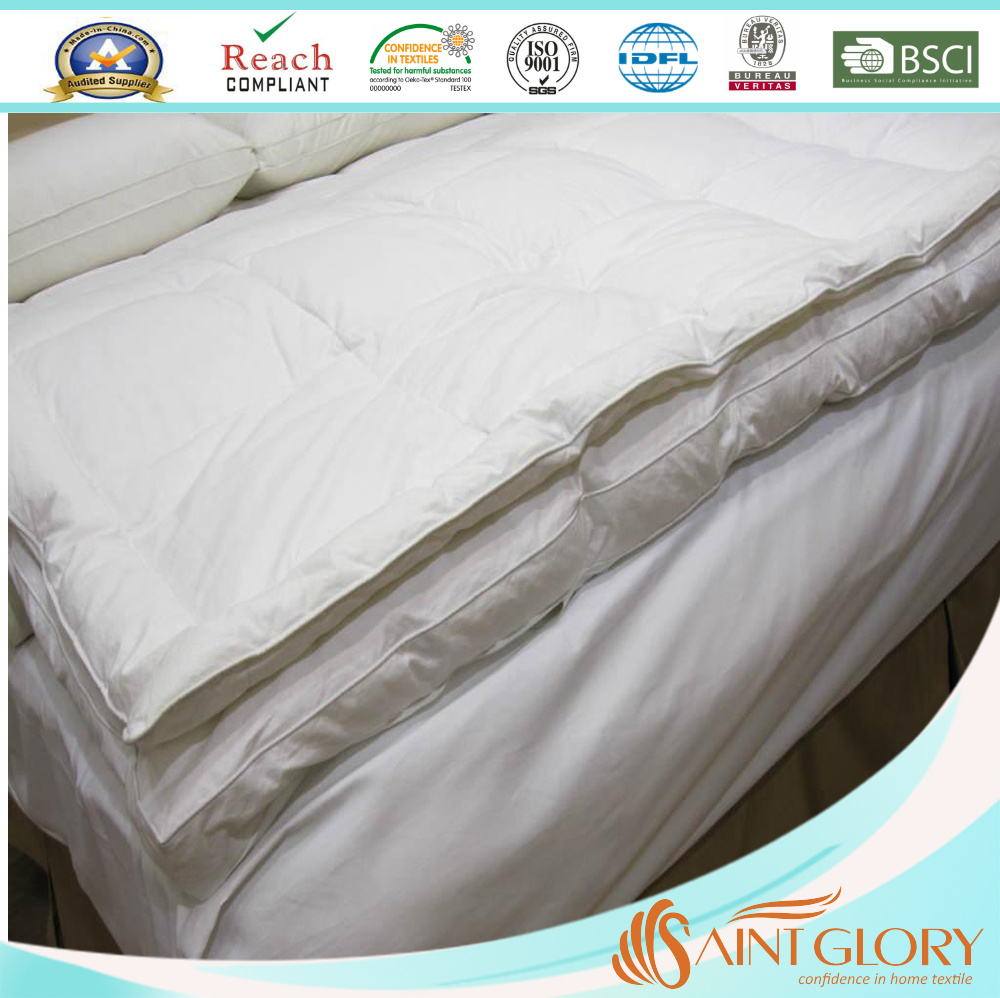 Goose Feather Filling Dual Removable Mattress Topper