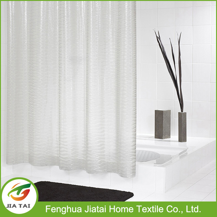 Cheap Custom Modern PEVA Clear Bathroom Shower Curtain for Home