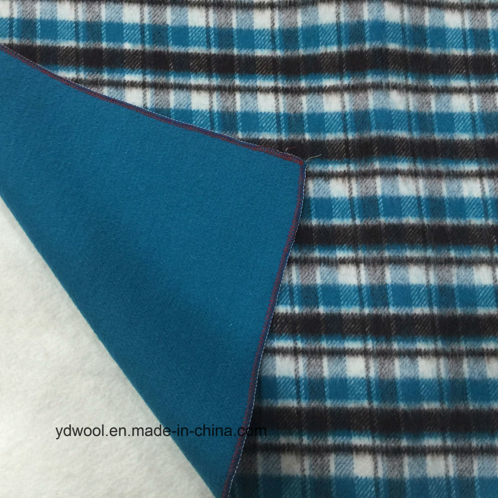 Ready/Stock Wool Fabric Different Double Face Check