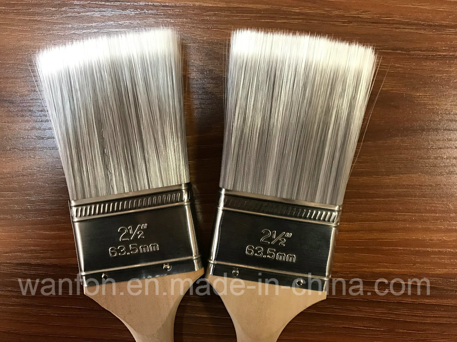 Tapered Solid Filaments Long Handle Angle Paint Brush
