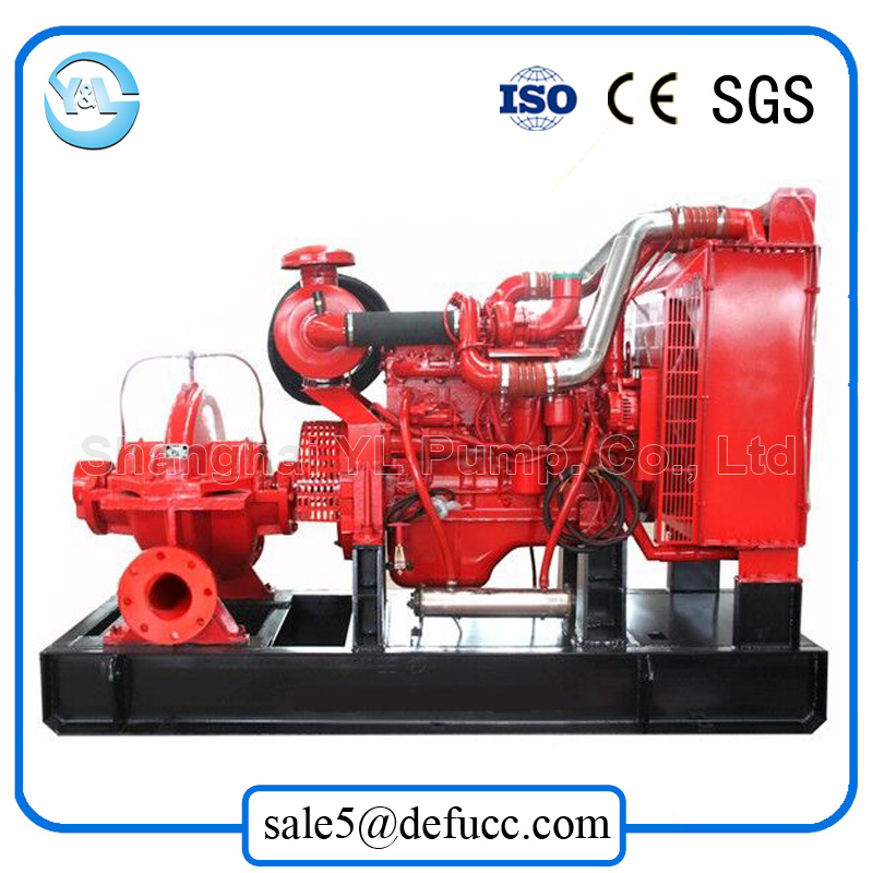 Large Volume Double Suction Diesel Drainage Engine Centrifugal Pump