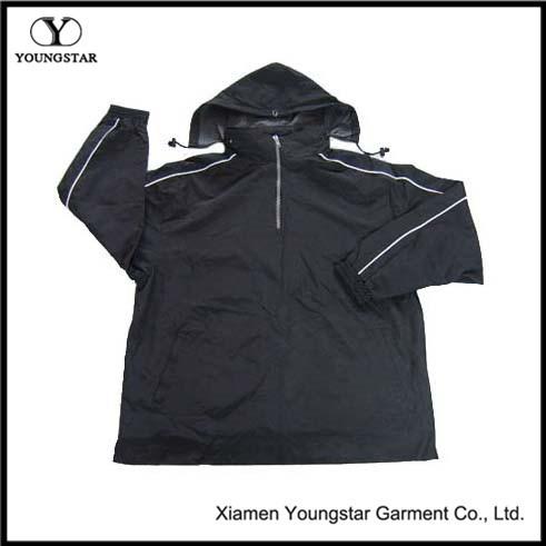 Wholesale Men ′s Fashion Athletic Jacket with Nylon Taslon