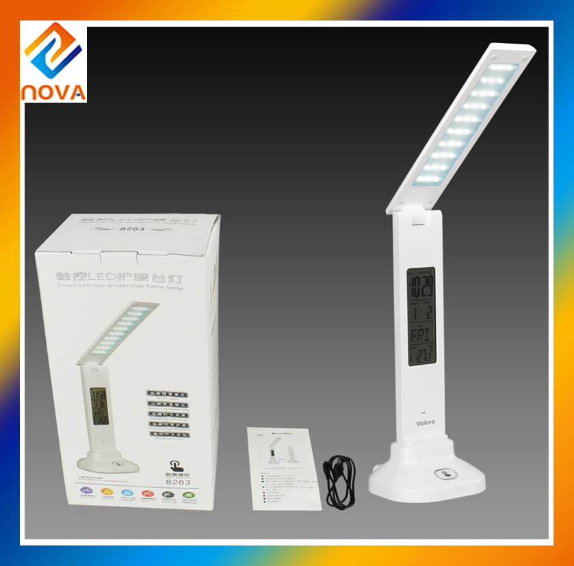 7W Desk Light with Touch Sliding Dimmer & Calendar Table Lamp