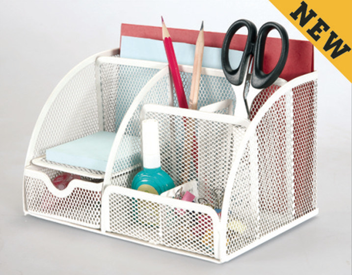 Office Organizers/ Metal Mesh Stationery Organizer/ Office Desk Accessories