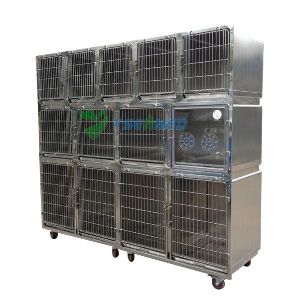 Yuesenmed Veterinary Hospital Medical Stainless Steel Pet Dog Bird Cage