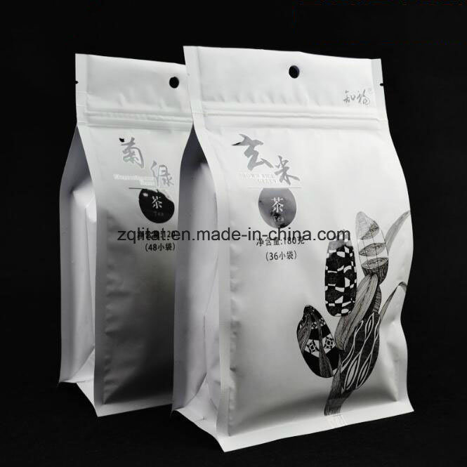 Flat Bottom Stand up Pouch Aluminum Foil Zip Lock Food Bag/ Customzied Design Laminated Stand up Pouch