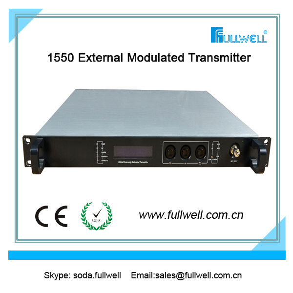 Fullwell FTTH CATV 1550nm External Modulation Optical Transmitter (FWT-1550EH -2X8)