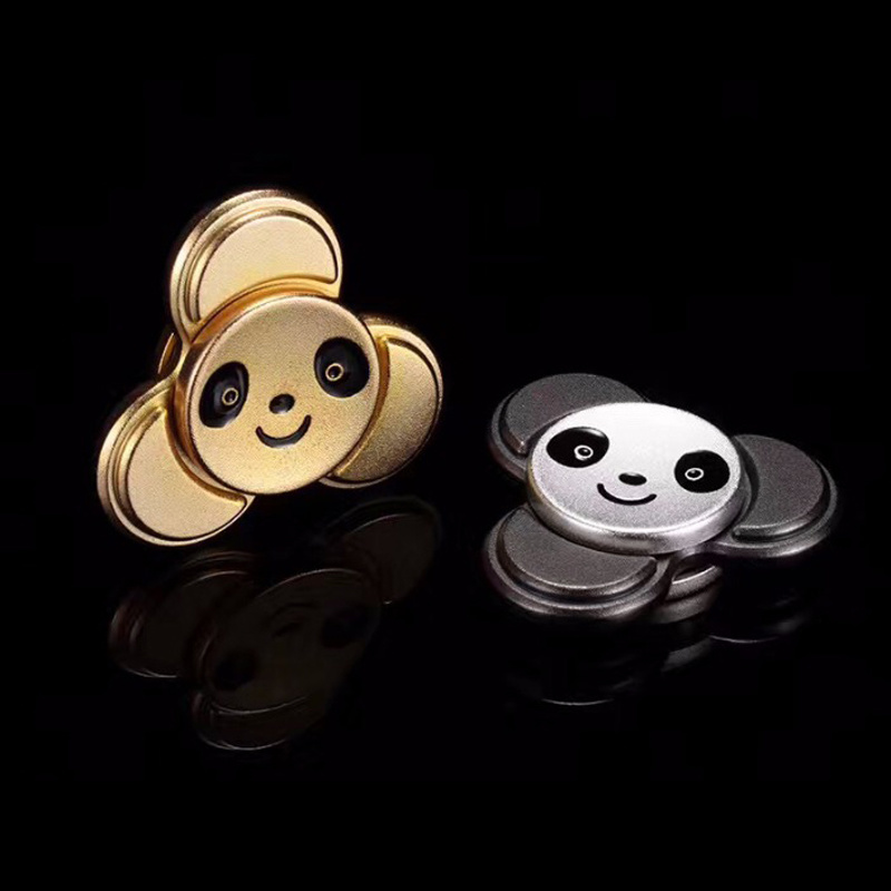 New Fidget Toy Panda Cute Hand Spinner Metal Finger Stress Spinner