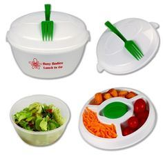 Salad Bowl to Go- Complete & Ready to Go with Fork 5-in-1