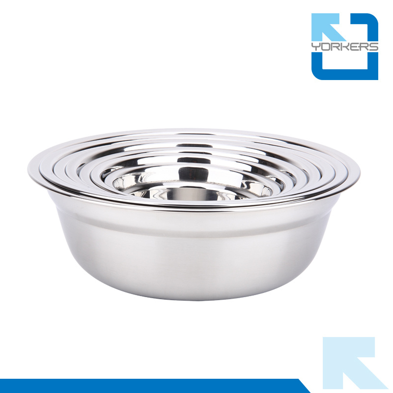 Stainless Steel Bowls Soup Plate & Mixing Bowl Set