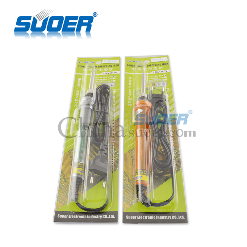 Suoer New Design Touch-Based Automatic Soldering Iron 220V 30W Electric Soldering Iron (SE-CM-30A)