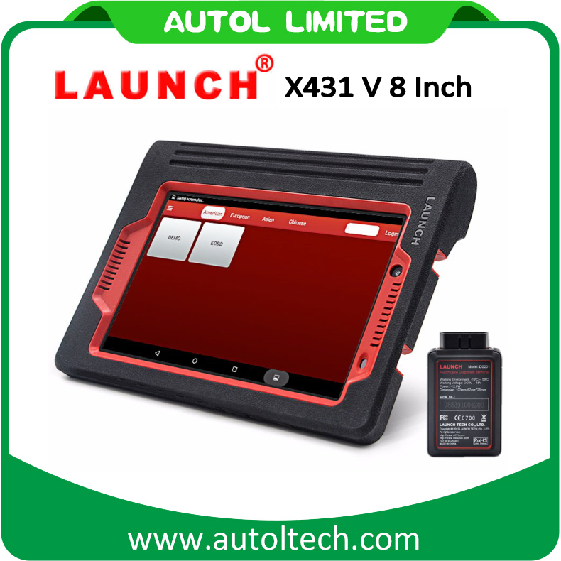2017 New Launch X431 V Tablet PC Scanner with 8 Inch Touch Screen Car Diagnostic Tool Fastest Speed Launch X431 Scanner Launch X431 V 2 Years Free Update Online