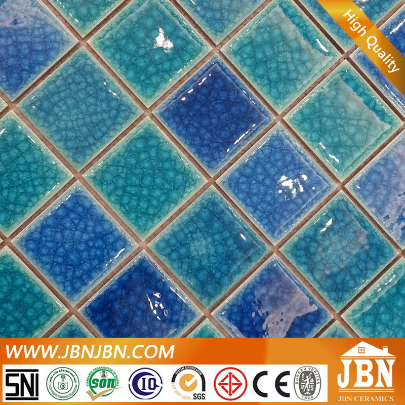 Blue Color Swimming Pool Porcelain Ceramicmosaic Tile (C648009)