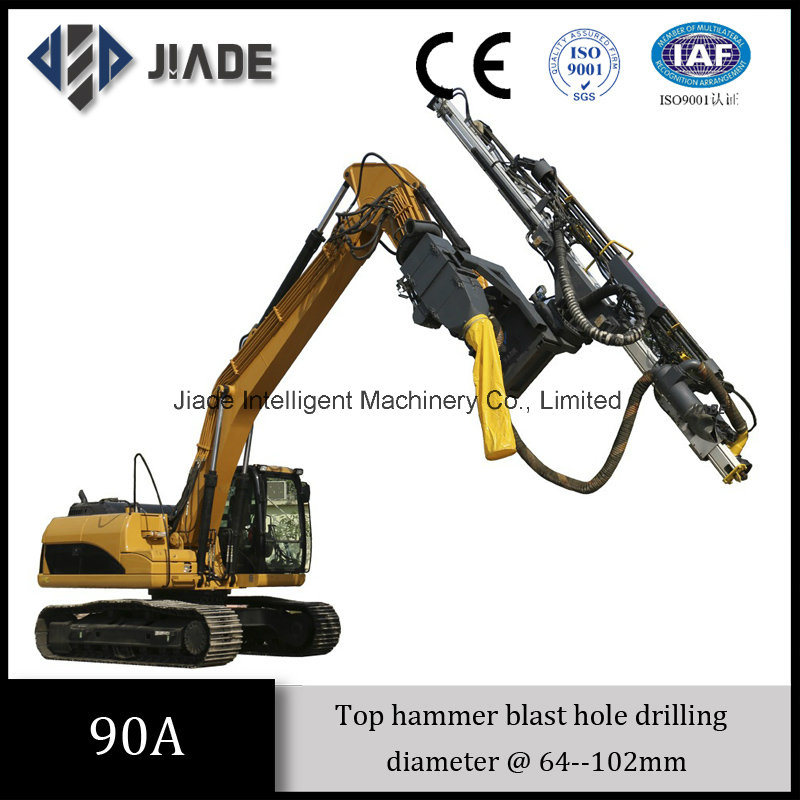 Jd90A China Best Top Hammer Excavator Mounted Drill Rig