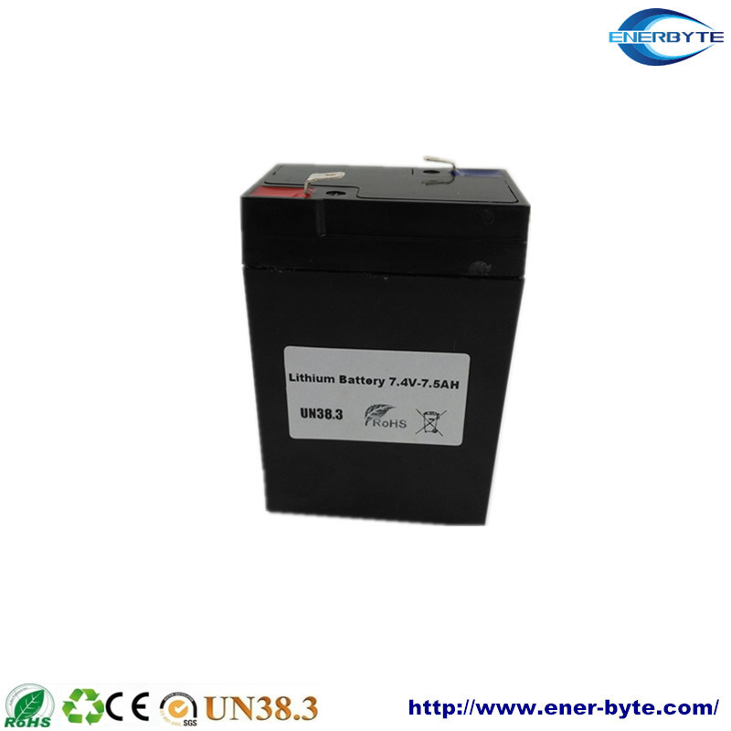 Rechargeable Lithium (NCM) Battery Pack 7.4V 7.5ah