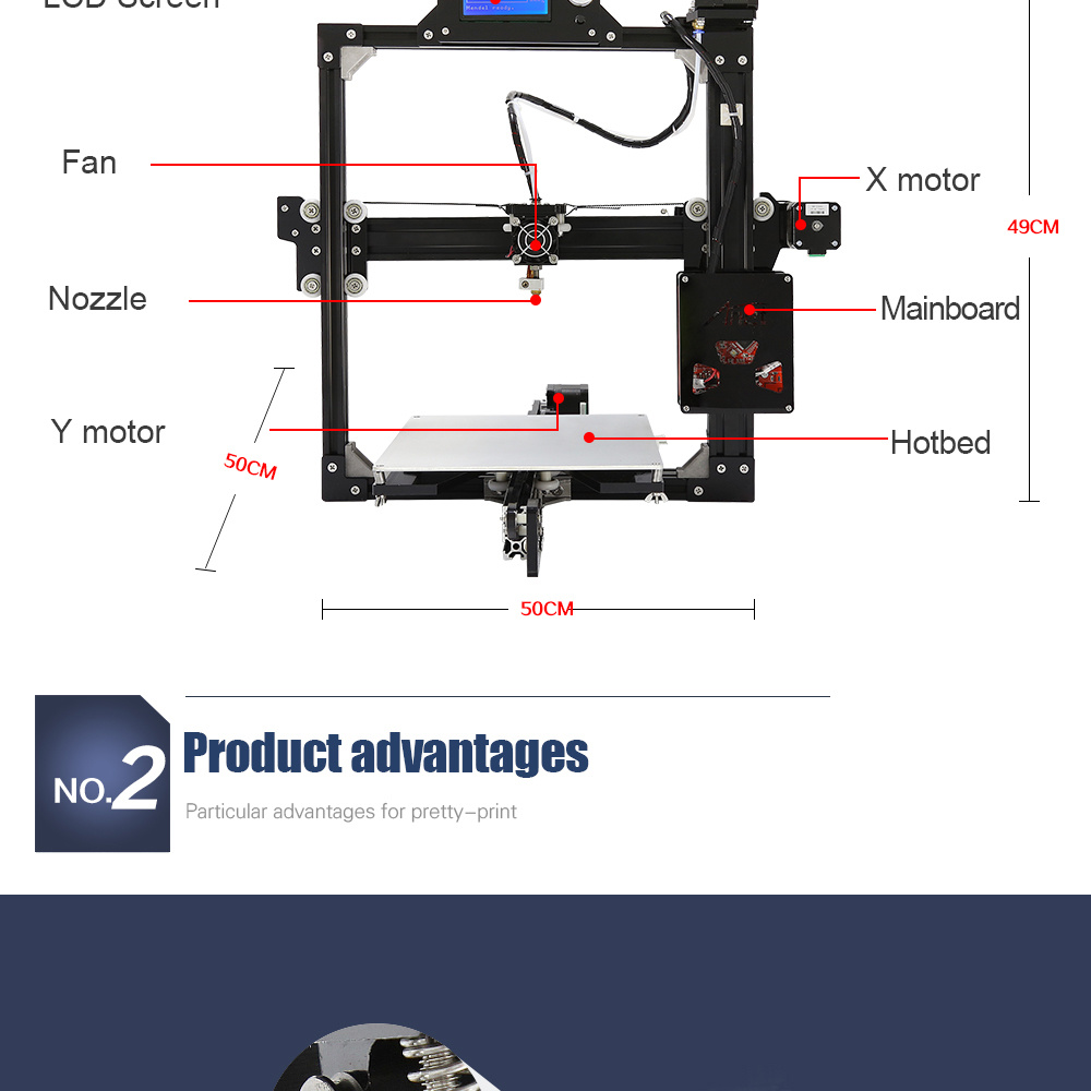 Anet A2 Wholesale Prusa I3 3D Printer