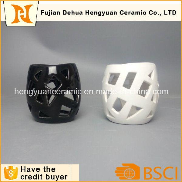 Ceramic Circular Hollow Candle Holder Incense Burner