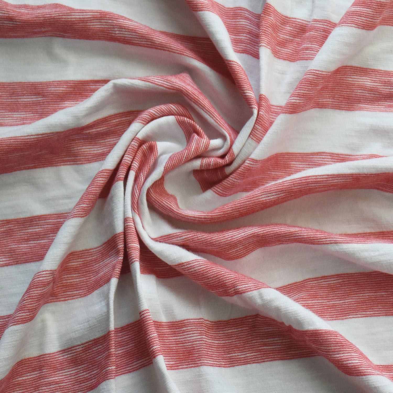 Cotton/Rayon/Spandex Yarn Dye Stripe Fabric for Clothing