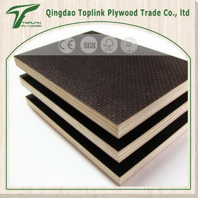 Cheap and Poplar 9mm Anti Slip Film Faced Plywood Factory